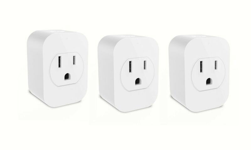 (3 Pack)eco4life Smart Single Plug, Work with Alexa/Google Assistant,no need Hub