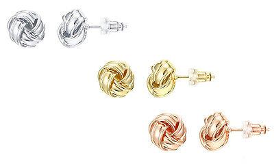 Designer Inspired 18K Gold Plated 10mm Mesh Knot Stud Earring (18k Gold Plated Mesh)