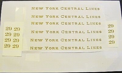 GOLD WATER DECAL: EARLY LIONEL STANDARD GAUGE 29 29 29 PASSENGER CAR SET LOOK!
