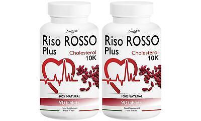 RISO ROSSO PLUS K10 Fermentato 180 capsule( PER 6 MESI) per il COLESTEROLO
