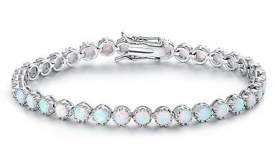 Fire Opal Tennis Bracelet by Peermont - NEW