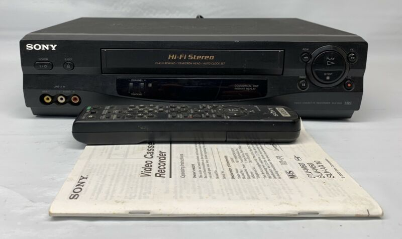 Sony SLV-N50 VCR 4-Head VHS HiFi Video Cassette Recorder TESTED + remote