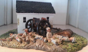 DUNKER CHURCH HAND PAINTED METAL SOLDIERS CIVIL WAR SCENE