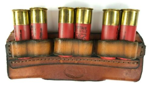 Stockyard Johnny Red Leather Ammo Belt Pouch Accessory 6 Rounds 12 Ga 5771-P