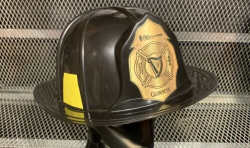 RARE GUINNESS The LEARY (DENNIS) FIREFIGHTERS FOUNDATION Fireman's Style Helmet