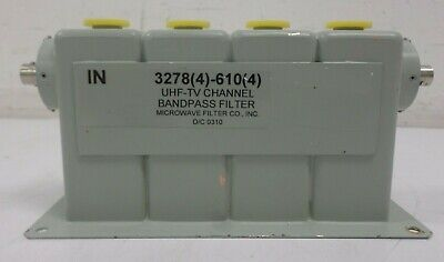 Microwave Filter Company Uhf Tv Channel Bandpass Filter 32784-6104