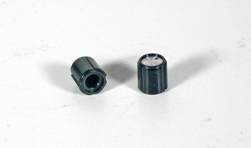 Knob - Small Black Plastic - Pointer - 5 Pieces