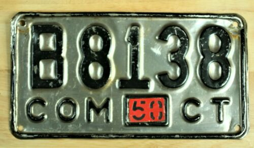 1950 CONNECTICUT CONN CT B 8138 LICENSE PLATE AUTO VEHICLE TAG 1773