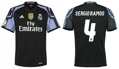 Trikot Adidas Real Madrid 2016-2017 Third WC Sergio Ramos Badge Klubweltmeister (Real Madrid Wc)