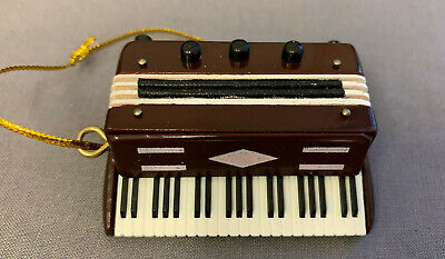 "ACCORDION MUSICAL INSTRUMENT ORNAMENT 2"" x 2.75"""