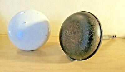 2 Vintage Door Knobs 1 Porcelain and 1 is Brown Metal
