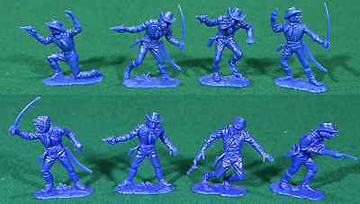 Jean Hoefler 8 U.S. Cavalry in 4 poses - 60mm plastic toy soldiers