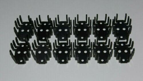 12 pcs TO-3 Transistor Heat Sinks Black