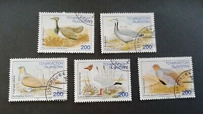 Tajikistan : 5 Stamps Birds.  VGU, NH. #TAJ5B