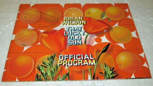 BRIAN WILSON THAT LUCKY OLD SUN OFFICIAL CONCERT PROGRAM 2008 THE BEACH BOYS