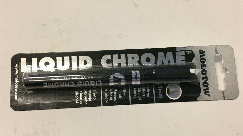 как выглядит Liquid Chrome 1mm Detailing Paint Pen Molotow High Gloss Permanent Mirror effect фото