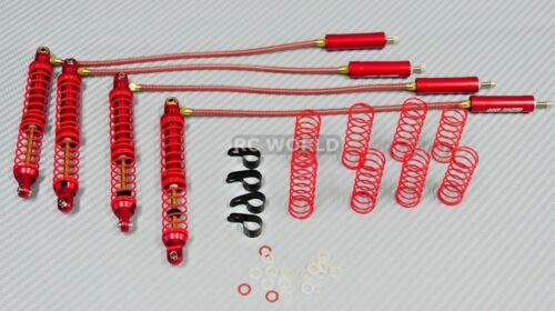 For Traxxas TRX-4 METAL PiggyBack SUSPENSION SHOCKS 110MM RED (4 pcs)