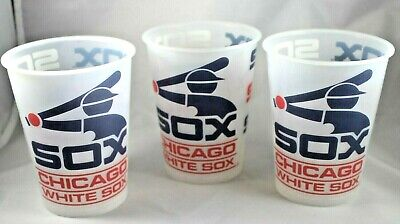 Chicago White Sox Set Of Three Reusable Plastic Cups With Vintage Sox Logo](Plastic Cups With Logo)