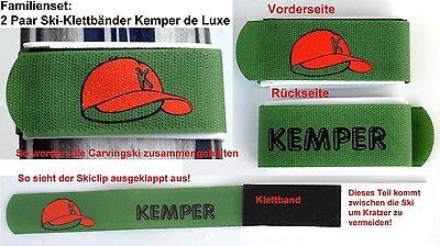4 Paar SKI-KLETTBÄNDER KEMPER de Luxe für Alpin-/Tourenski    ---NEU---