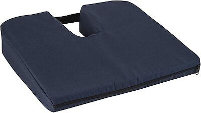 DMI Sloping Seat Cushion for Coccyx Support and Better Posture with Cover,