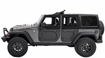 Bestop 53041-35 Black Diamond Rear Half Door Set for 2007-2018 Wrangler JK Unlimited