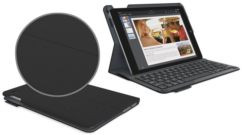 Logitech Type+ Protective Keyboard Case for Apple® iPad® Air 2 Black Synthetic 920-006576