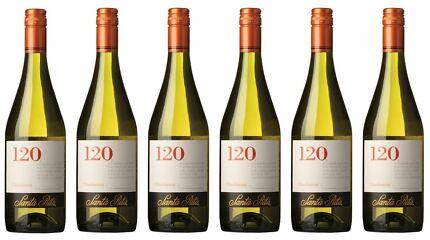 6x-SANTA-RITA-120-CHARDONNAY-075l-Wein-Weiwein-Weisswein-Chile