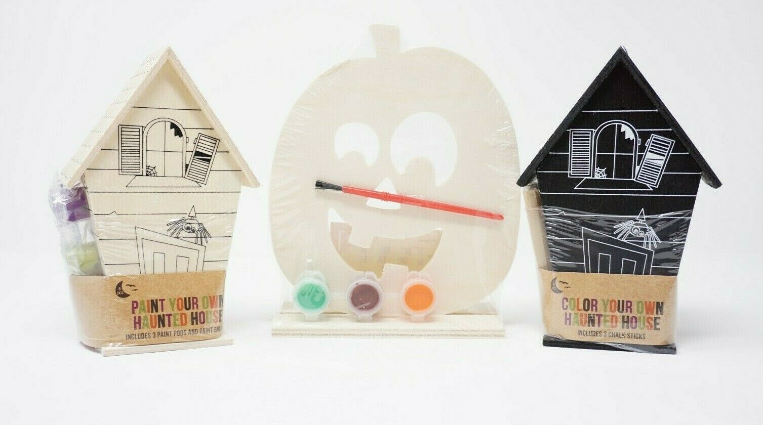 HALLOWEEN Kids Party Favor Craft Activity Paint Color Wood H
