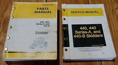 John Deere 440 Skidder Manuals - Tech Service Manual Parts Manual Set Of 2
