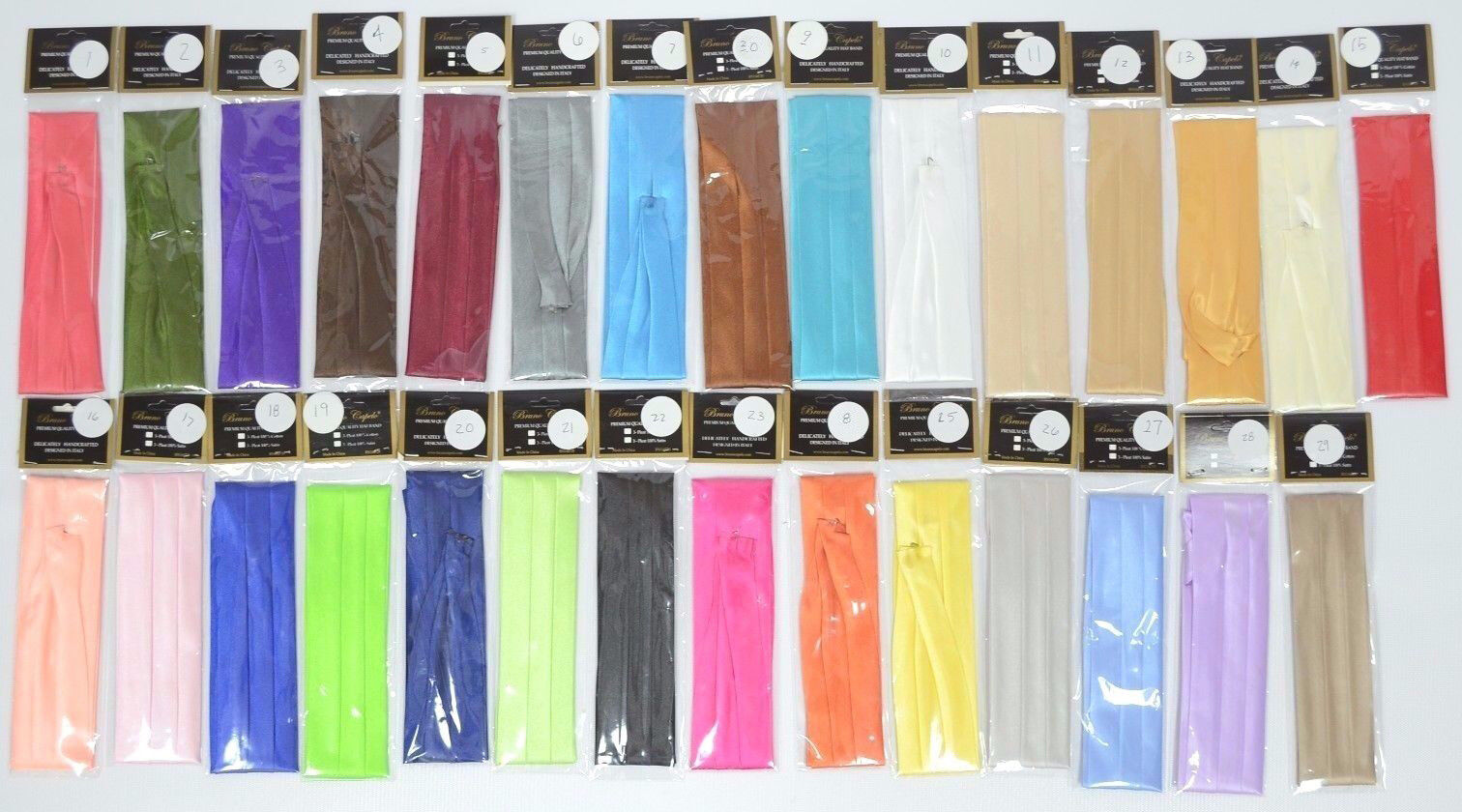 """Men/'s Hat Band 6 Pleat 2/"""" Wide x 27/"""" Long with Hook Many Solid Colors Available"""