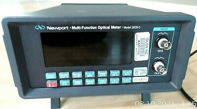 Newport 2835-c 2-channel Multi-function Optical Power Meter W 818-ig Calibration