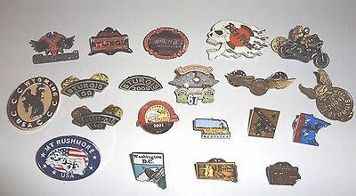 Lot of 20 Vintage Sturgis etc. Vest / Lapel Pins New Condition Free Shipping