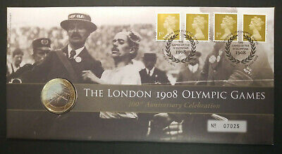 GB 2008 London 1908 Olympic Games £2 Coin BU Brilliant Uncirculated PNC Cover