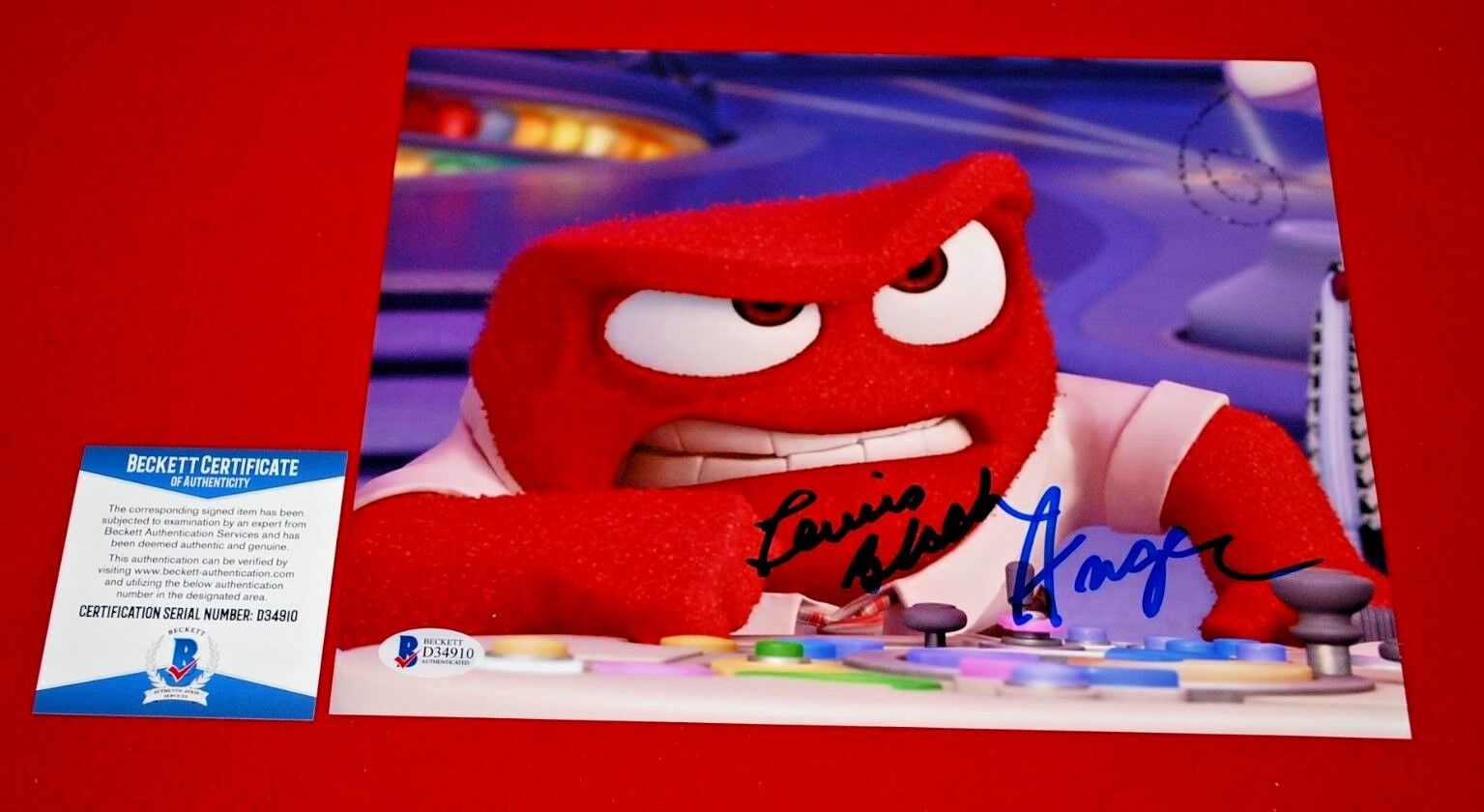 LEWIS BLACK inside out Anger signed 8X10 beckett BAS COA 2