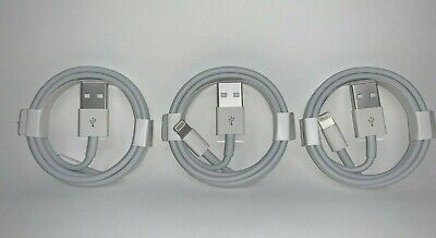 3X Genuine Original OEM for Apple iPhone Max X 8 7 6S Lightning Cable Charger 1M