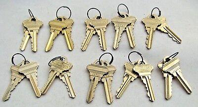 10 Pair  ORIGINAL  SCHLAGE 5 PIN FACTORY PRECUT KEYS    20 Keys   Locksmith.... ()