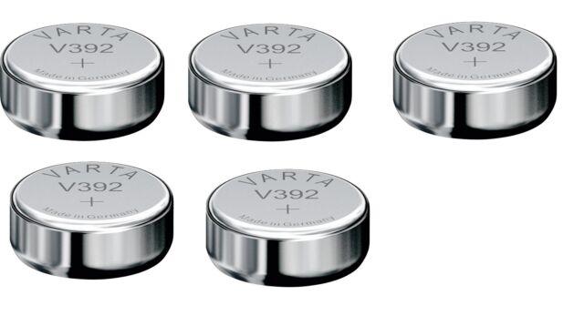 VARTA lot of 5 batteries watch silver oxide 392/ V392, SR41W , 1.55V