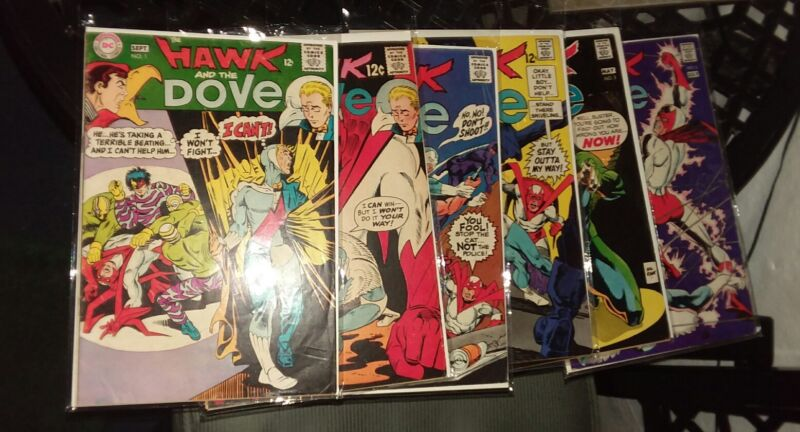 Hawk and the dove 1 2 3 4 5 6 silver age complete series steve ditko art run set