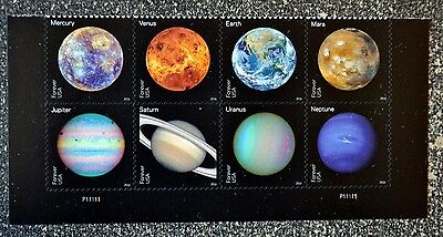 2016USA  #5069-5076 Forever - View of Our Planets - Bottom Plate Block of 8 Mint