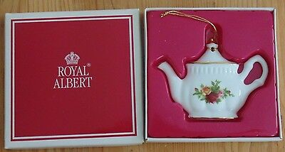 Royal Albert OLD COUNTRY ROSES Teapot Ornament Royal Doulton Brand ~Boxed