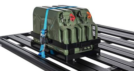Rhino-Rack Double Horizontal Jerry Can Holder