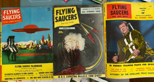 FLYING SAUCERS AND OTHER WORLDS 3 issues 1957 and 1958