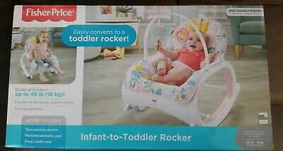 FISHER PRICE Infant-to-Toddler Baby Rocker Bouncer Seat Sleeper Swing  DTH00 NEW