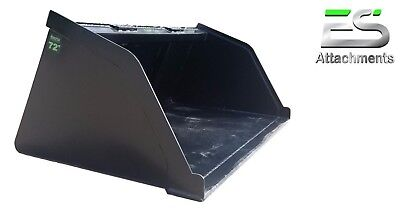 Es 72 Snowmulchdirtgravel Bucket For Skid Steer Quick Attach - Local Pick Up