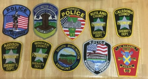 LOT OF 10 DIFFERENT VERMONT  SHOULDER PATCHES  F038