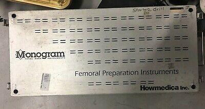 Monogram Howmedica Femoral Preparation Instruments - Surgical Tray
