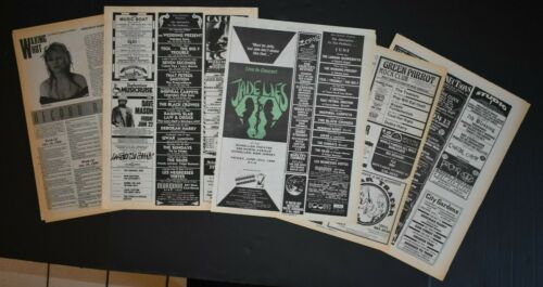 Deborah Harry 1989-1994 5PC Concert Ad/Album Review Lot  Blondie