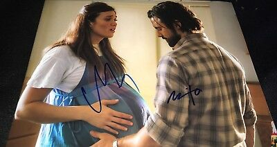Milo Ventimiglia   Mandy Moore This Is Us Signed 11X14 Photo Coa Look 01