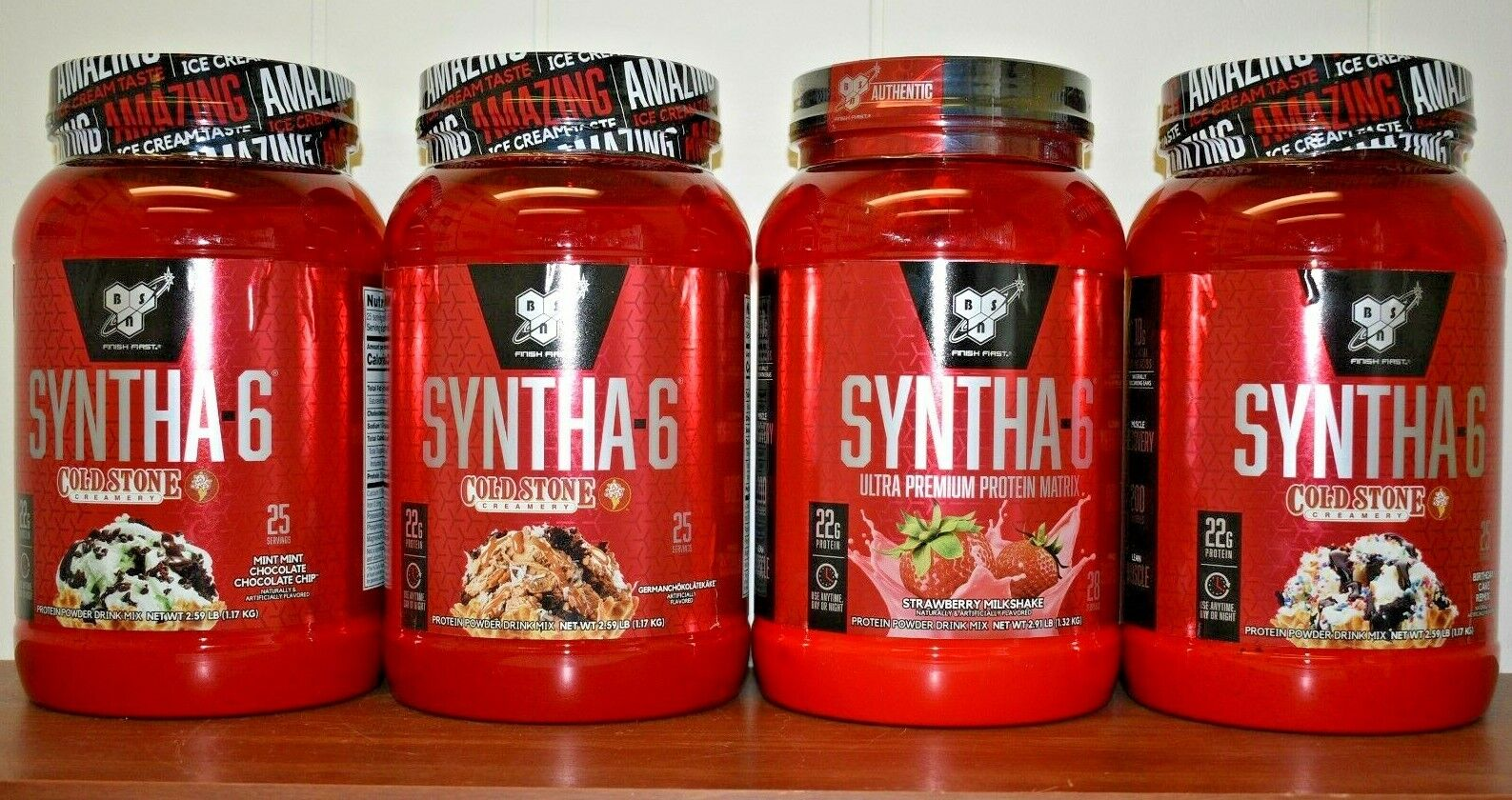 BSN Syntha-6 Cold Stone Creamery Protein Powder 2.59 LB 2.91