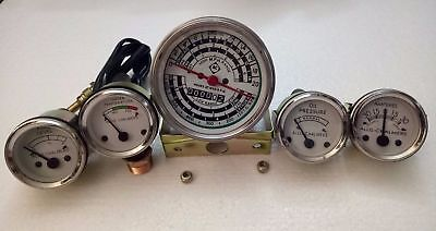 Allis Chalmers D17 Diesel Only Tachometertemp Oil Pressure Fuelamp Gauge Set